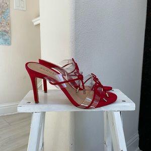 Schutz red heels clear bows 8